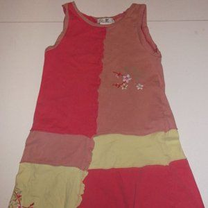 Deux par deux Pink Yellow Jersey Dress Girl 8